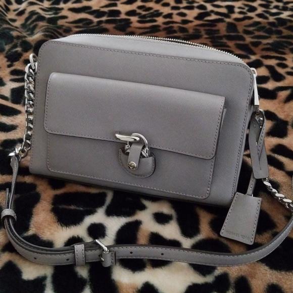 e70ffb132ae396 Michael Kors Bags | Emma Medium Leather Messenger | Poshmark